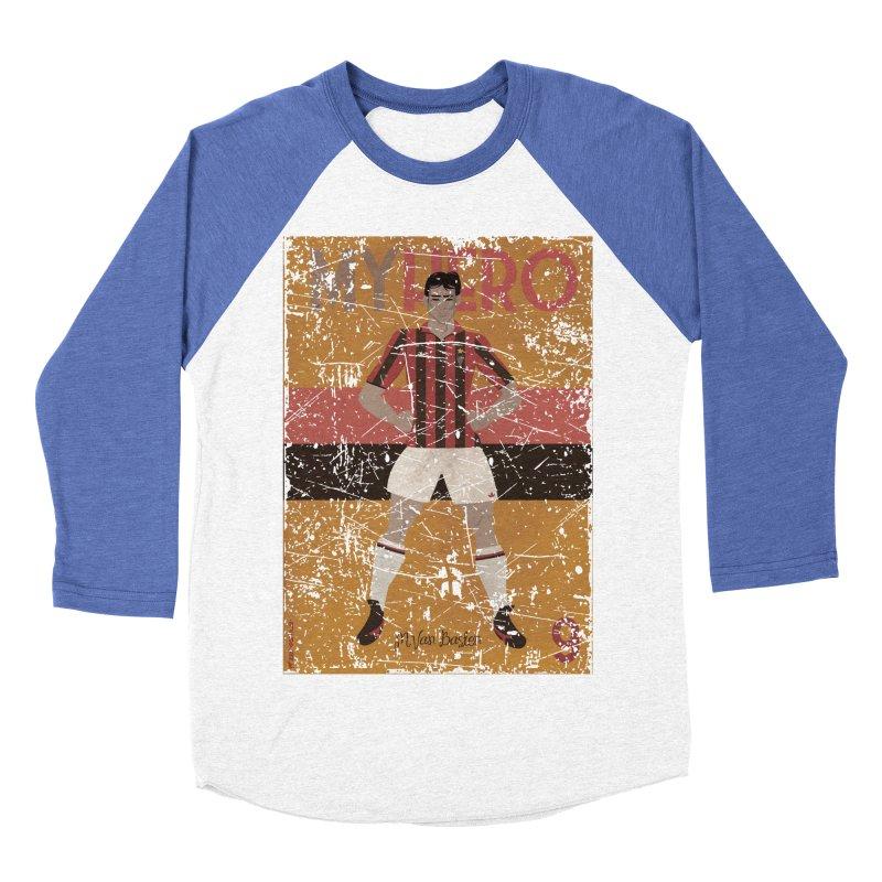 Van Basten My Hero Grunge Edt Women's Baseball Triblend T-Shirt by ZEROSTILE'S ARTIST SHOP