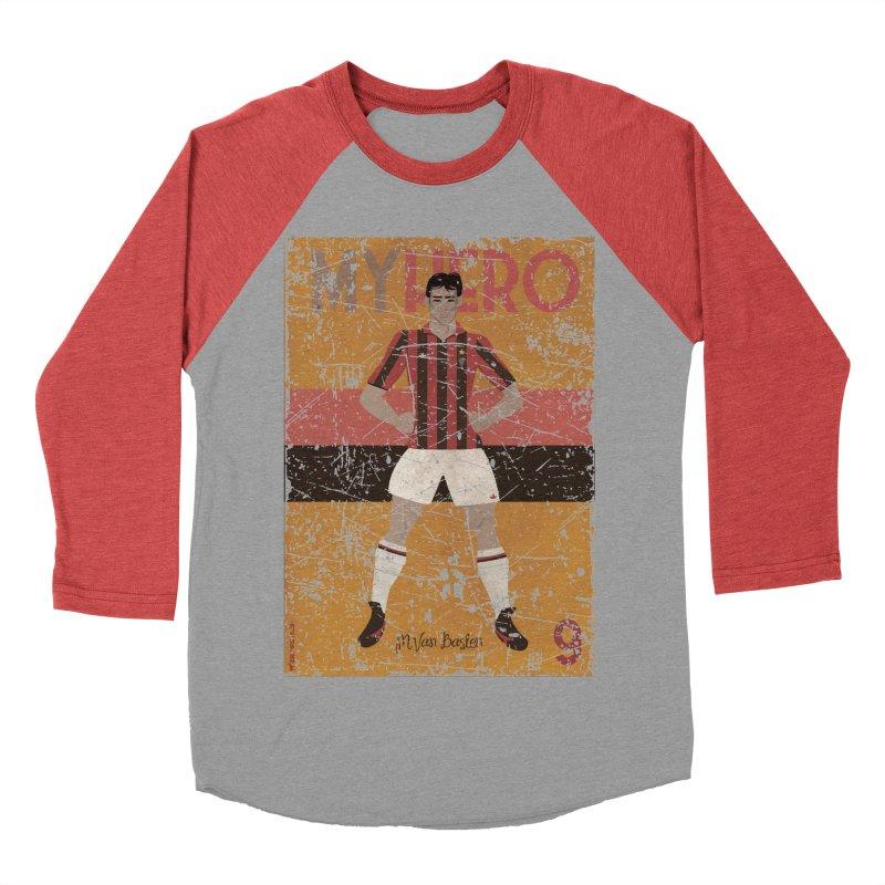 Van Basten My Hero Grunge Edt Men's Baseball Triblend T-Shirt by ZEROSTILE'S ARTIST SHOP
