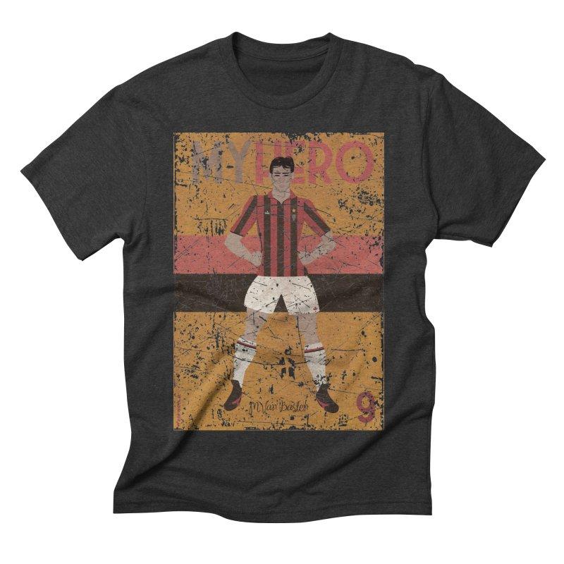 Van Basten My Hero Grunge Edt Men's Triblend T-shirt by ZEROSTILE'S ARTIST SHOP