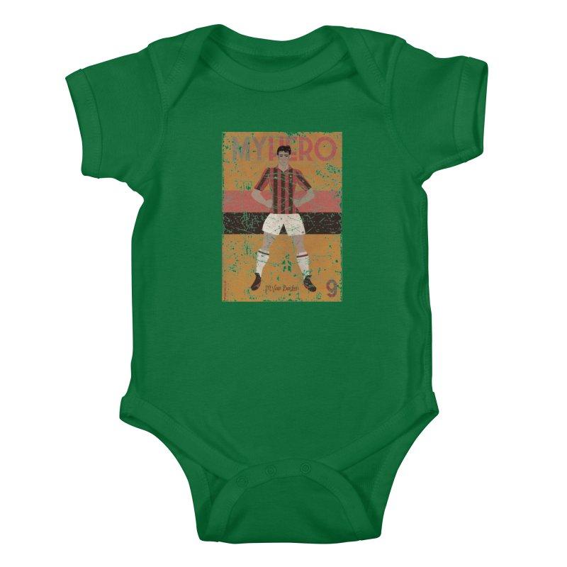 Van Basten My Hero Grunge Edt Kids Baby Bodysuit by ZEROSTILE'S ARTIST SHOP