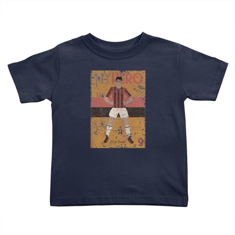 Van Basten My Hero Grunge Edt Kids Toddler T-Shirt by ZEROSTILE'S ARTIST SHOP