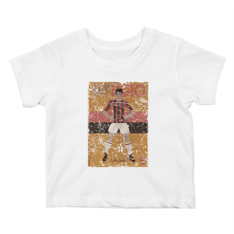 Van Basten My Hero Grunge Edt Kids Baby T-Shirt by ZEROSTILE'S ARTIST SHOP