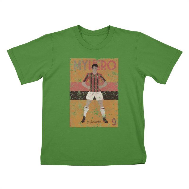 Van Basten My Hero Grunge Edt Kids T-shirt by ZEROSTILE'S ARTIST SHOP