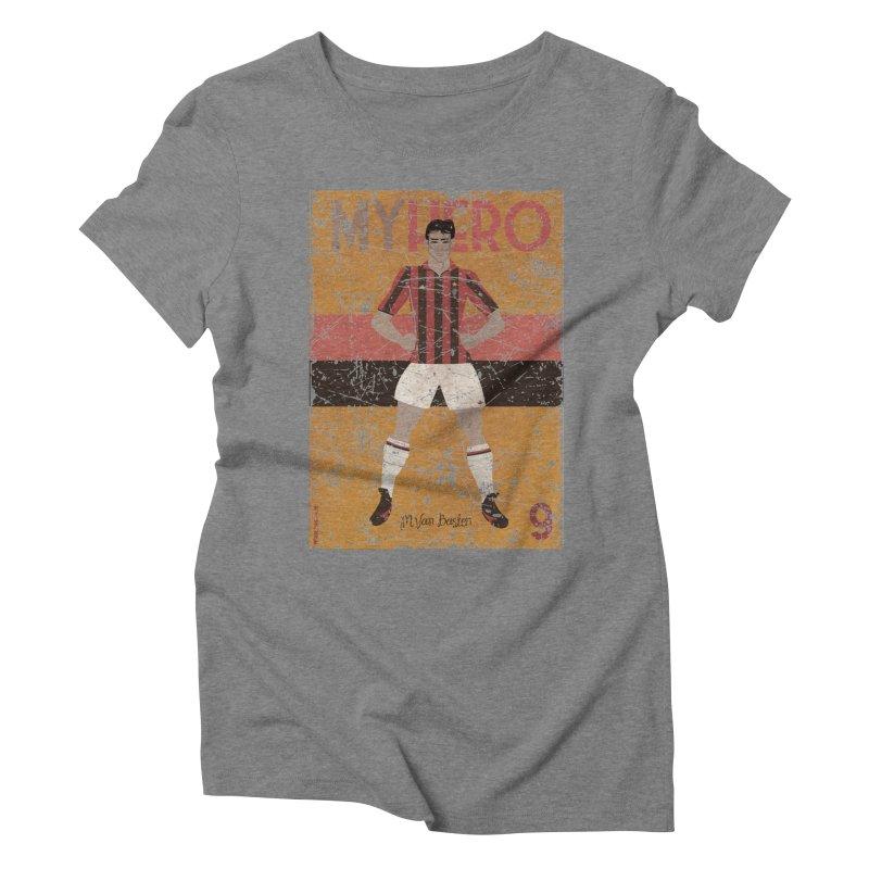 Van Basten My Hero Grunge Edt Women's Triblend T-shirt by ZEROSTILE'S ARTIST SHOP