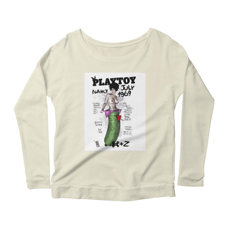 Playtoy_Nancy Women's Longsleeve Scoopneck  by ZEROSTILE'S ARTIST SHOP