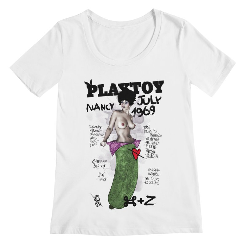 Playtoy_Nancy Women's Regular Scoop Neck by ZEROSTILE'S ARTIST SHOP