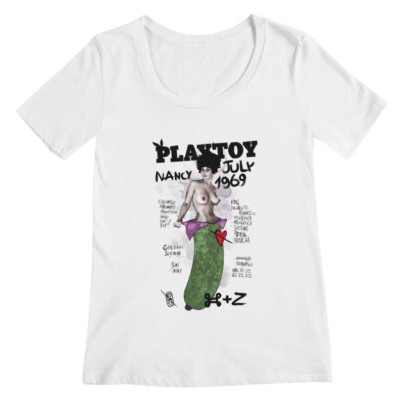 Playtoy_Nancy Women's Scoopneck by ZEROSTILE'S ARTIST SHOP
