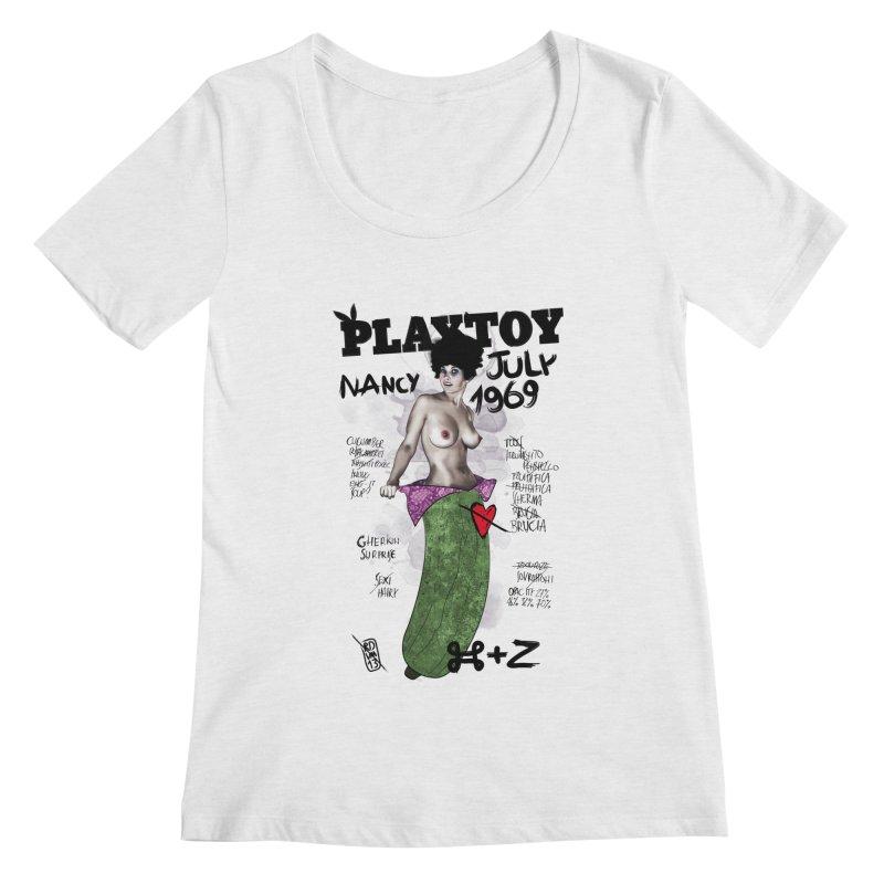 Playtoy_Nancy Women's Regular Scoop Neck by ZEROSTILE'S ARTIST SHOP