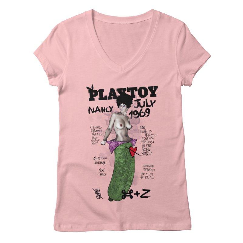 Playtoy_Nancy Women's V-Neck by ZEROSTILE'S ARTIST SHOP
