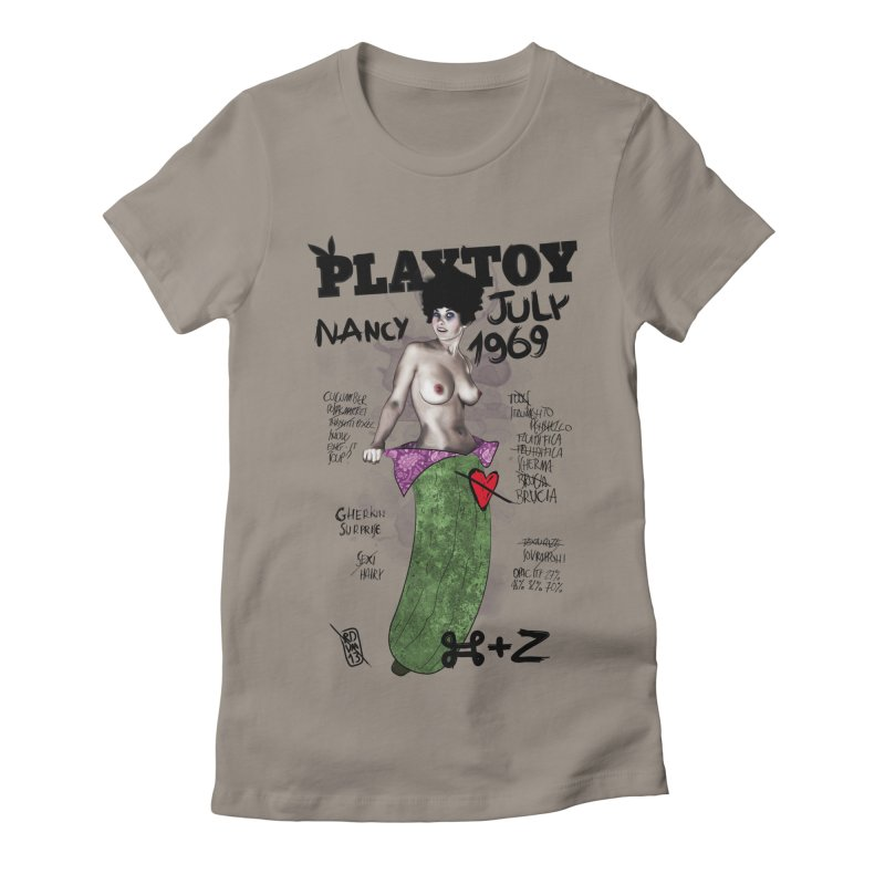 Playtoy_Nancy Women's Fitted T-Shirt by ZEROSTILE'S ARTIST SHOP