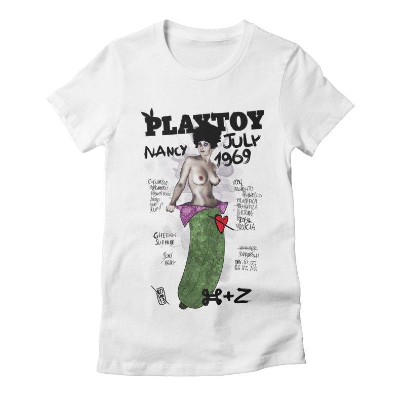 Playtoy_Nancy Women's Fitted T-Shirt by ZEROSTILE'S ARTIST SHOP