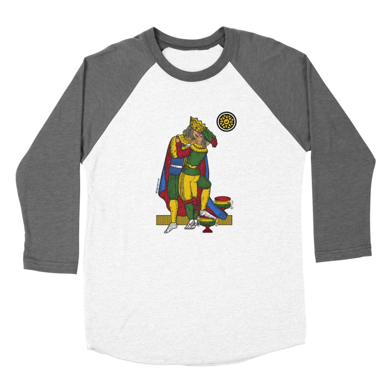 The Kiss - Neapolitan cards Women's Baseball Triblend T-Shirt by ZEROSTILE'S ARTIST SHOP