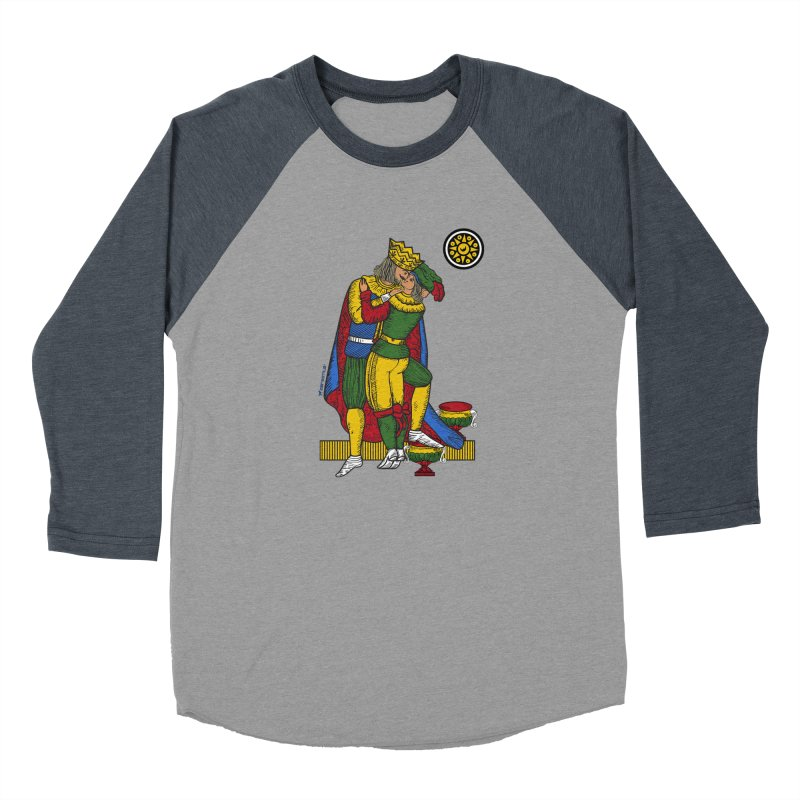 The Kiss - Neapolitan cards Men's Baseball Triblend T-Shirt by ZEROSTILE'S ARTIST SHOP