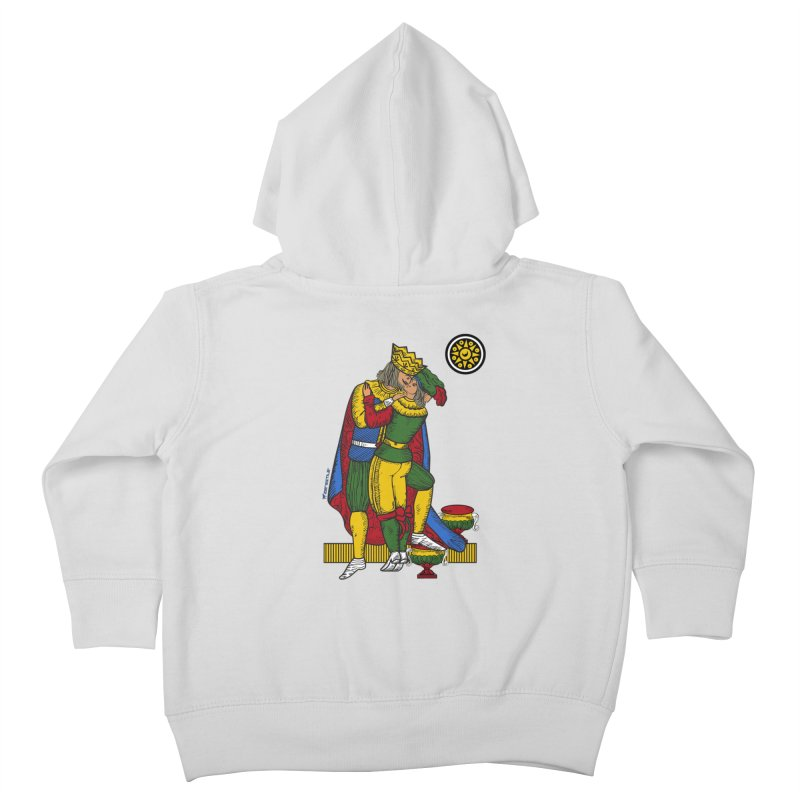 The Kiss - Neapolitan cards Kids Toddler Zip-Up Hoody by ZEROSTILE'S ARTIST SHOP