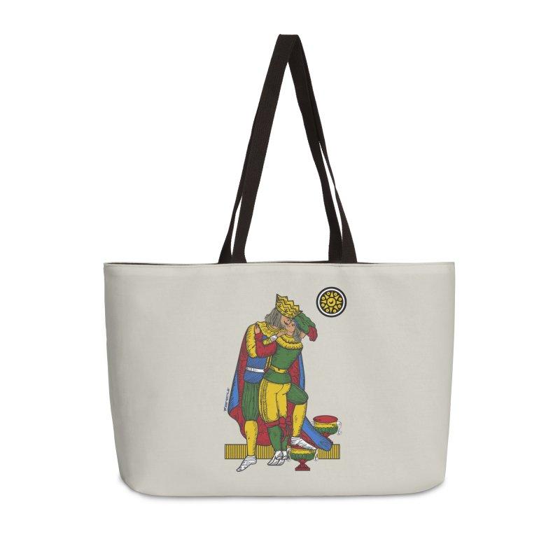 The Kiss - Neapolitan cards Accessories Weekender Bag Bag by ZEROSTILE'S ARTIST SHOP