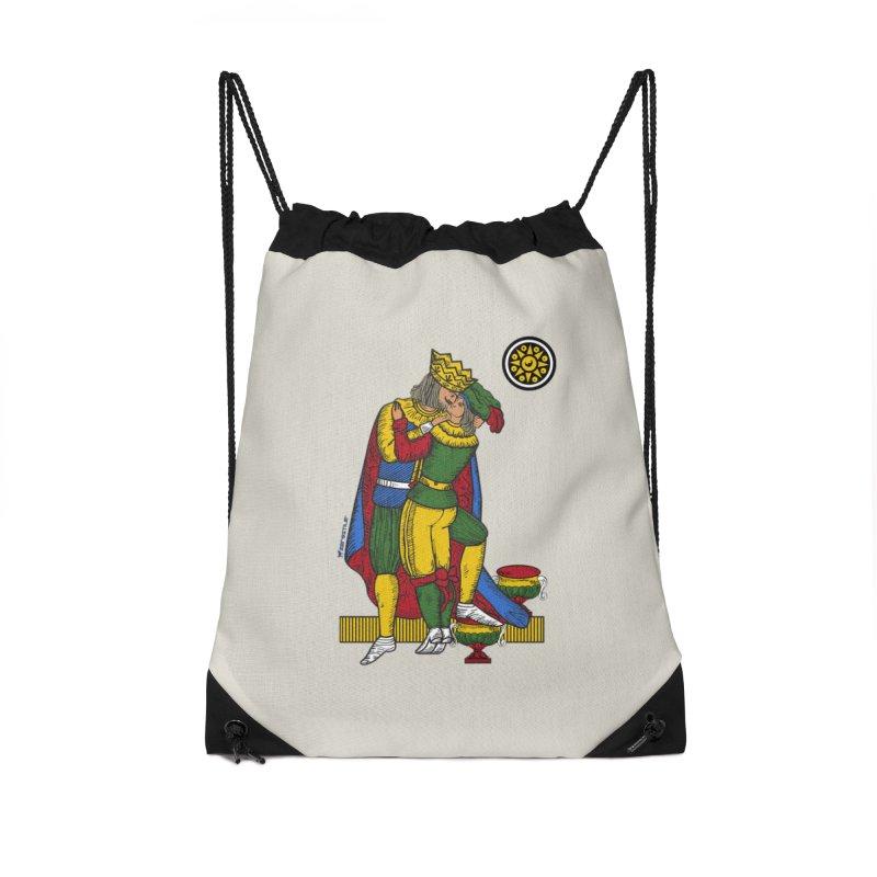 The Kiss - Neapolitan cards Accessories Drawstring Bag Bag by ZEROSTILE'S ARTIST SHOP