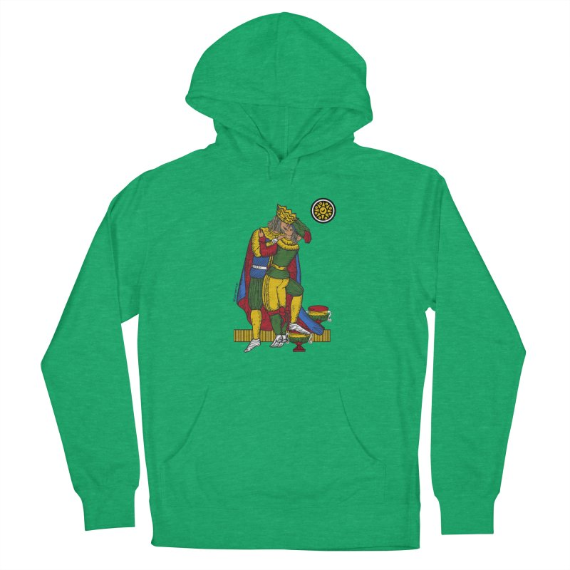 The Kiss - Neapolitan cards Women's French Terry Pullover Hoody by ZEROSTILE'S ARTIST SHOP