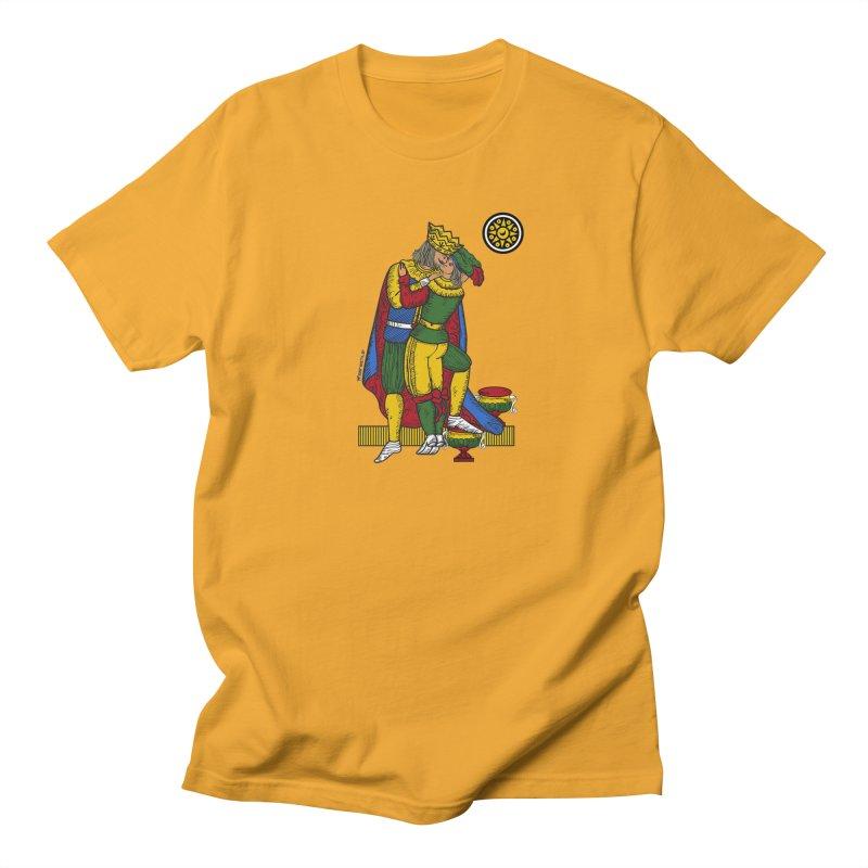 The Kiss - Neapolitan cards in Men's T-Shirt Gold by ZEROSTILE'S ARTIST SHOP