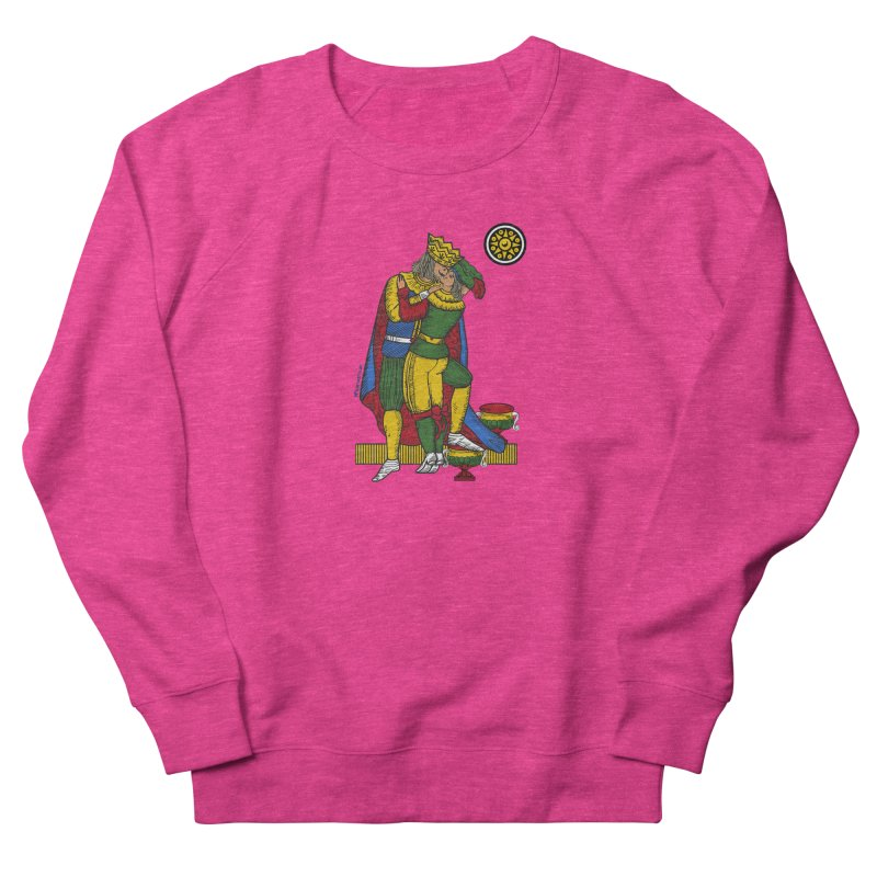 The Kiss - Neapolitan cards Women's French Terry Sweatshirt by ZEROSTILE'S ARTIST SHOP