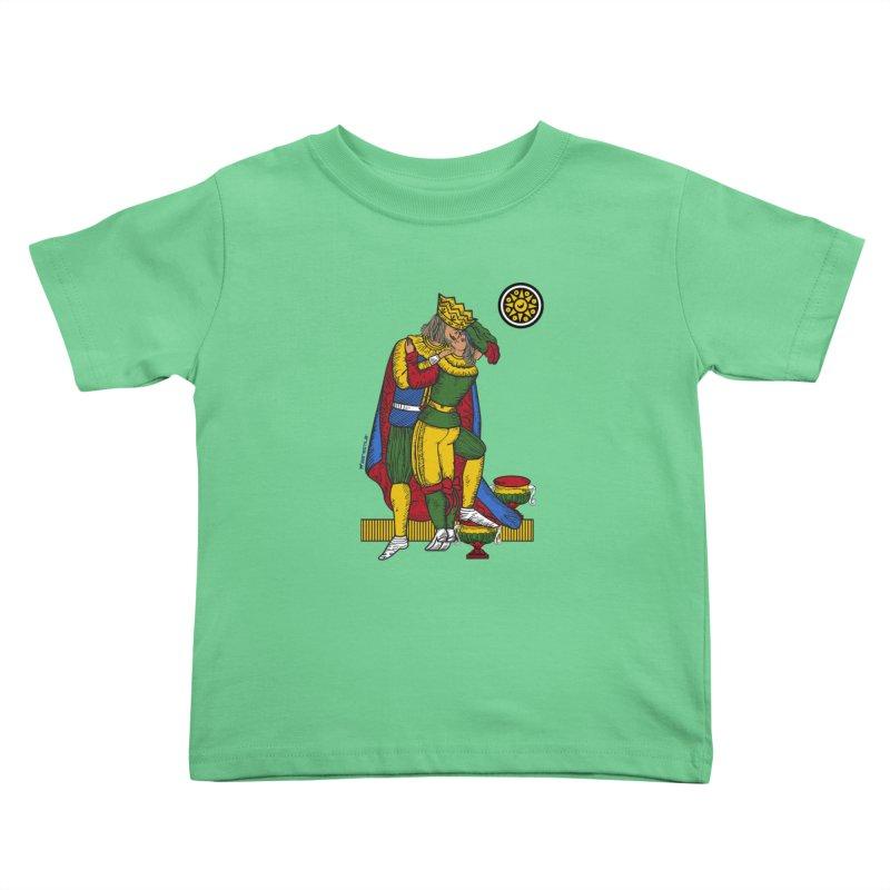 The Kiss - Neapolitan cards Kids Toddler T-Shirt by ZEROSTILE'S ARTIST SHOP