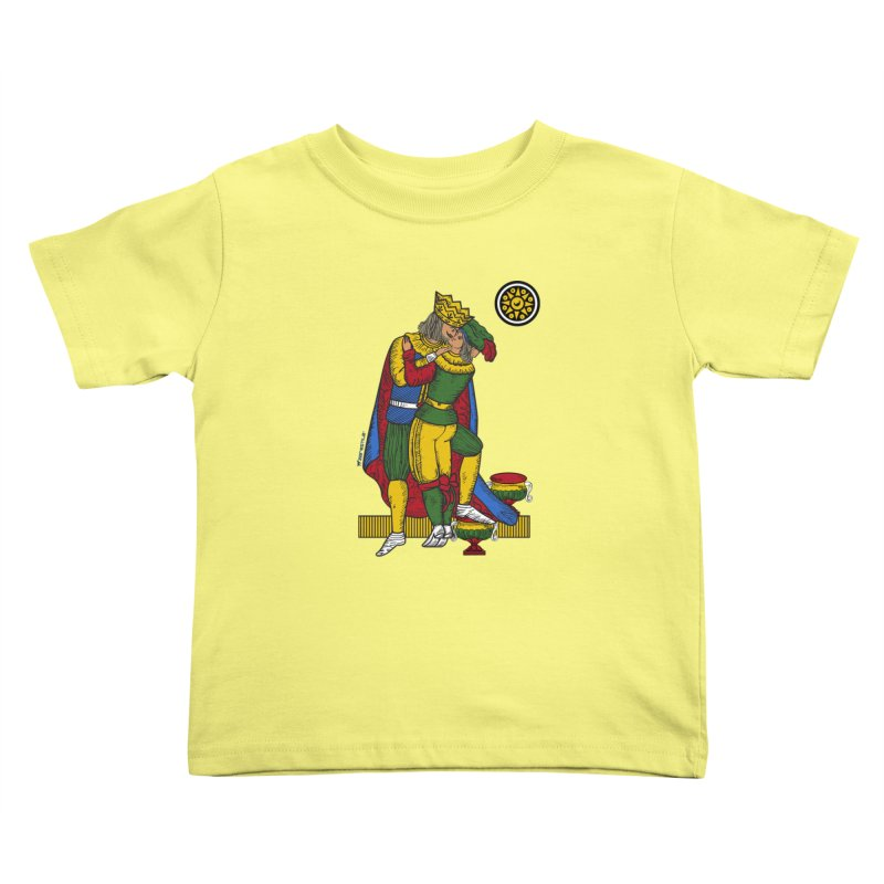 The Kiss - Neapolitan cards Kids Toddler T-Shirt by ZEROSTILE'S ARTIST SHOP