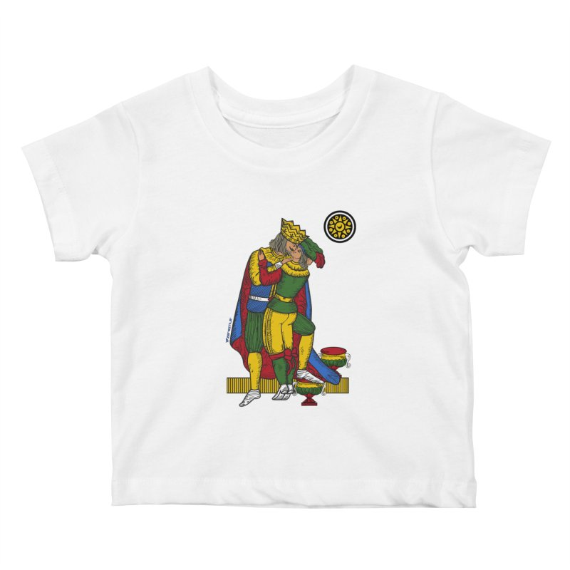 The Kiss - Neapolitan cards Kids Baby T-Shirt by ZEROSTILE'S ARTIST SHOP