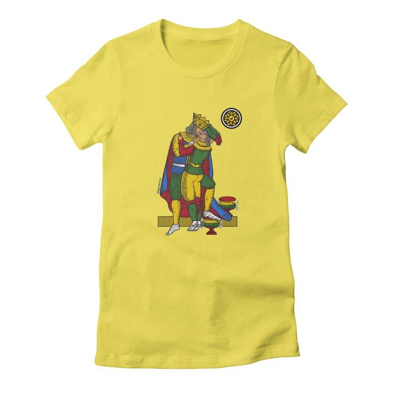 The Kiss - Neapolitan cards Women's T-Shirt by ZEROSTILE'S ARTIST SHOP