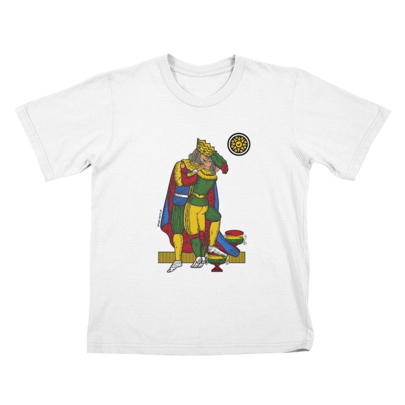 The Kiss - Neapolitan cards Kids T-Shirt by ZEROSTILE'S ARTIST SHOP