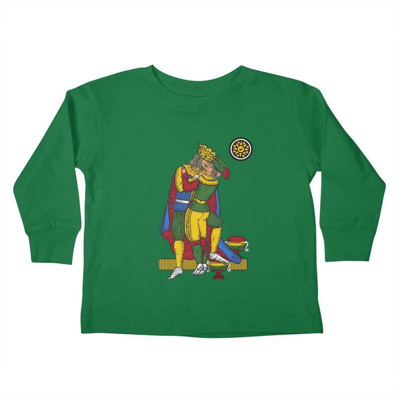 The Kiss - Neapolitan cards Kids Toddler Longsleeve T-Shirt by ZEROSTILE'S ARTIST SHOP
