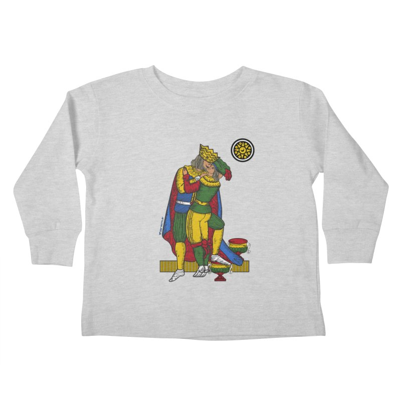 The Kiss - Neapolitan cards Kids Toddler Longsleeve T-Shirt by ZEROSTILE'S ARTIST SHOP
