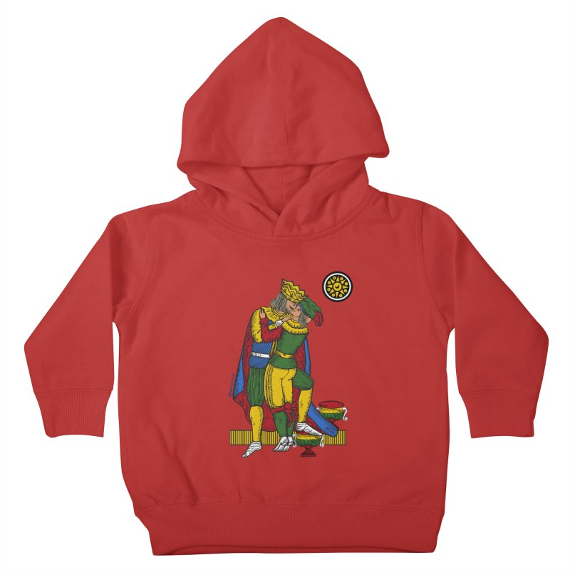 The Kiss - Neapolitan cards Kids Toddler Pullover Hoody by ZEROSTILE'S ARTIST SHOP