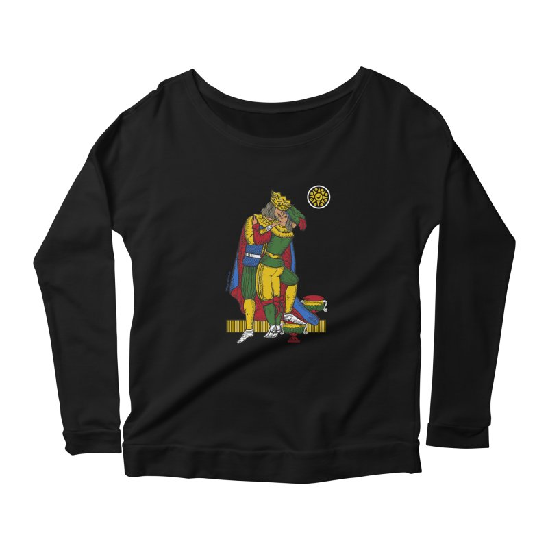 The Kiss - Neapolitan cards Women's Scoop Neck Longsleeve T-Shirt by ZEROSTILE'S ARTIST SHOP