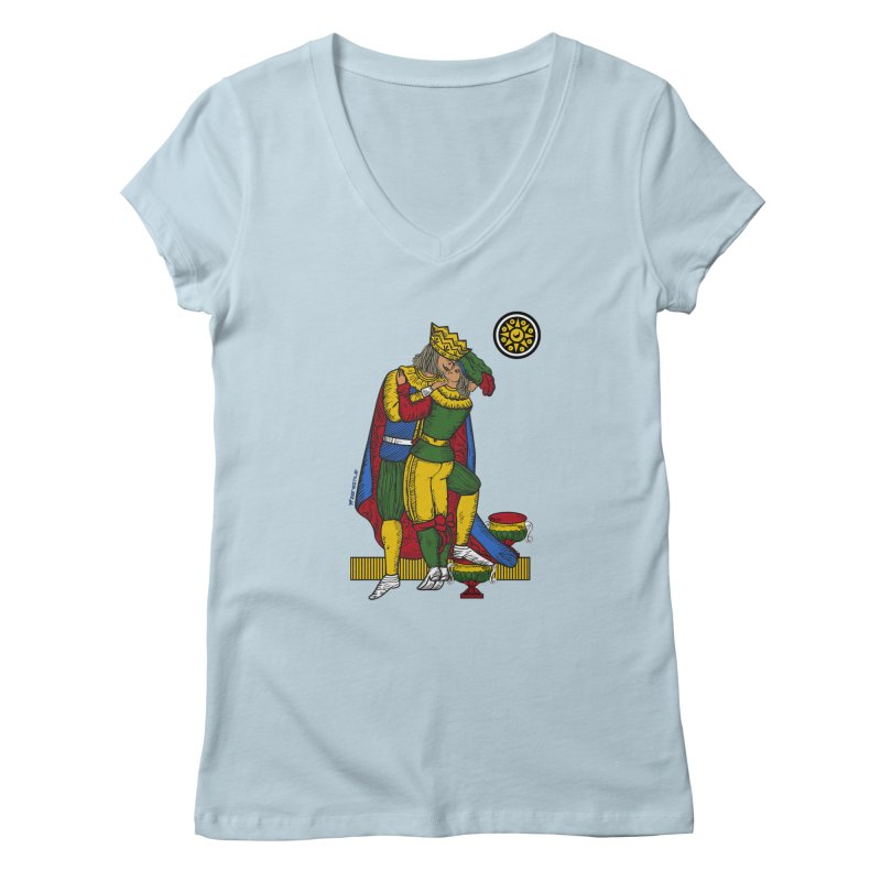 The Kiss - Neapolitan cards Women's Regular V-Neck by ZEROSTILE'S ARTIST SHOP