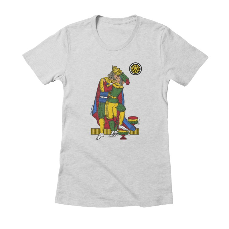 The Kiss - Neapolitan cards Women's Fitted T-Shirt by ZEROSTILE'S ARTIST SHOP