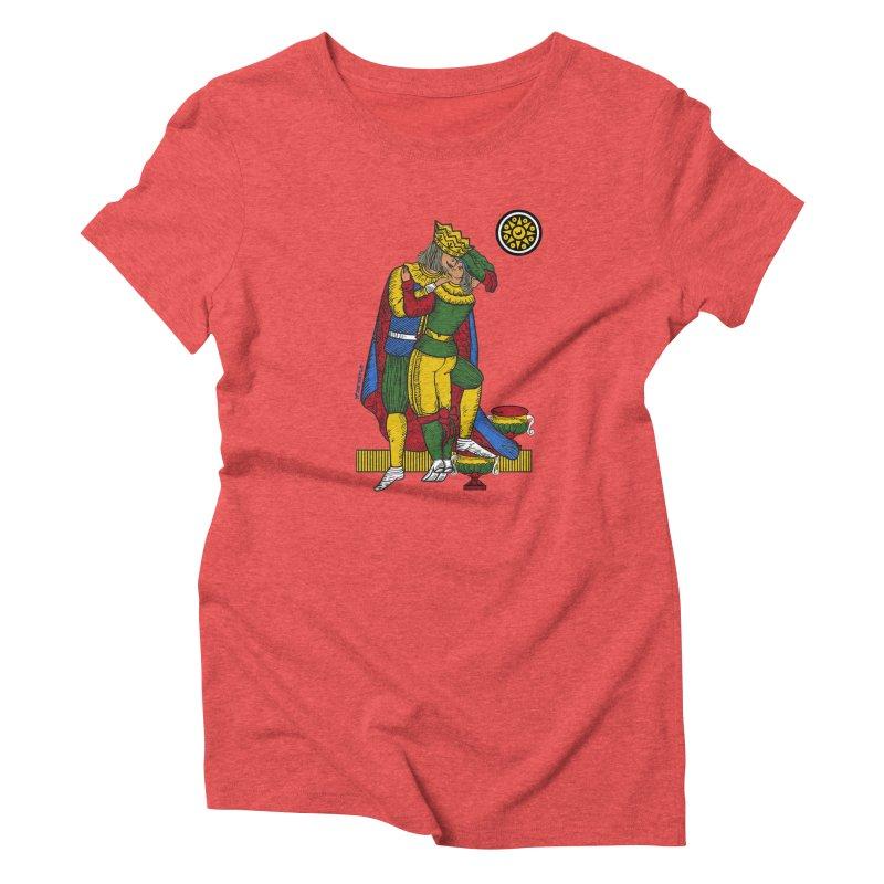 The Kiss - Neapolitan cards Women's Triblend T-Shirt by ZEROSTILE'S ARTIST SHOP