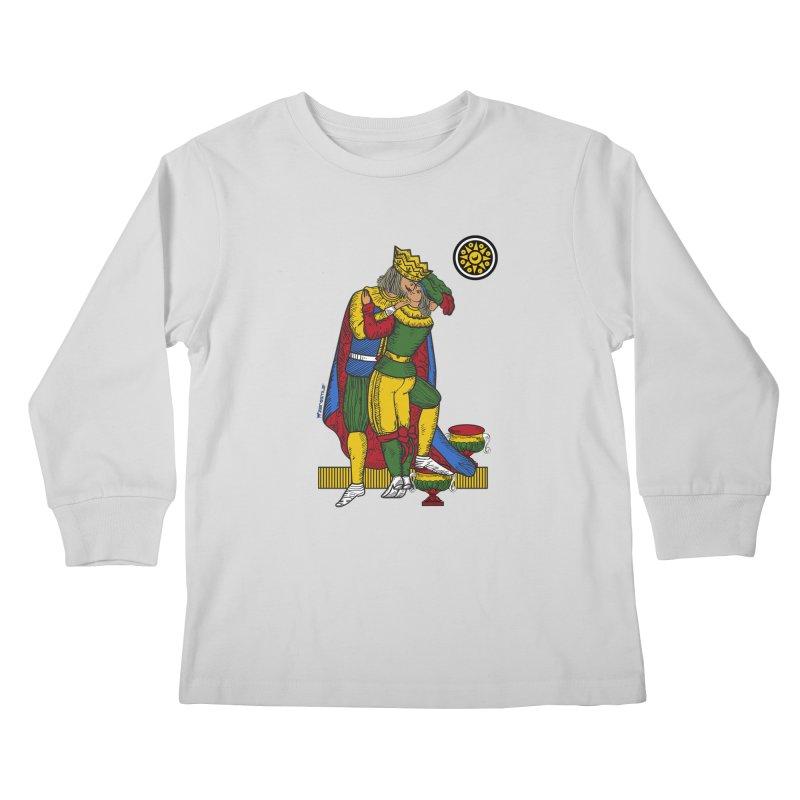 The Kiss - Neapolitan cards Kids Longsleeve T-Shirt by ZEROSTILE'S ARTIST SHOP