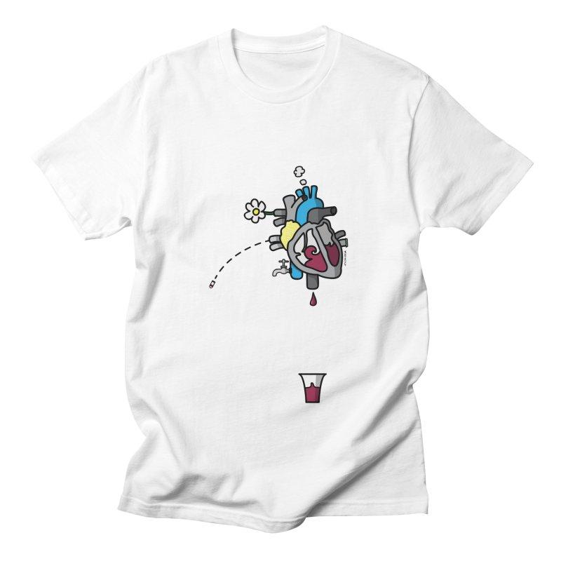 CuorVino in Men's T-shirt White by ZEROSTILE'S ARTIST SHOP