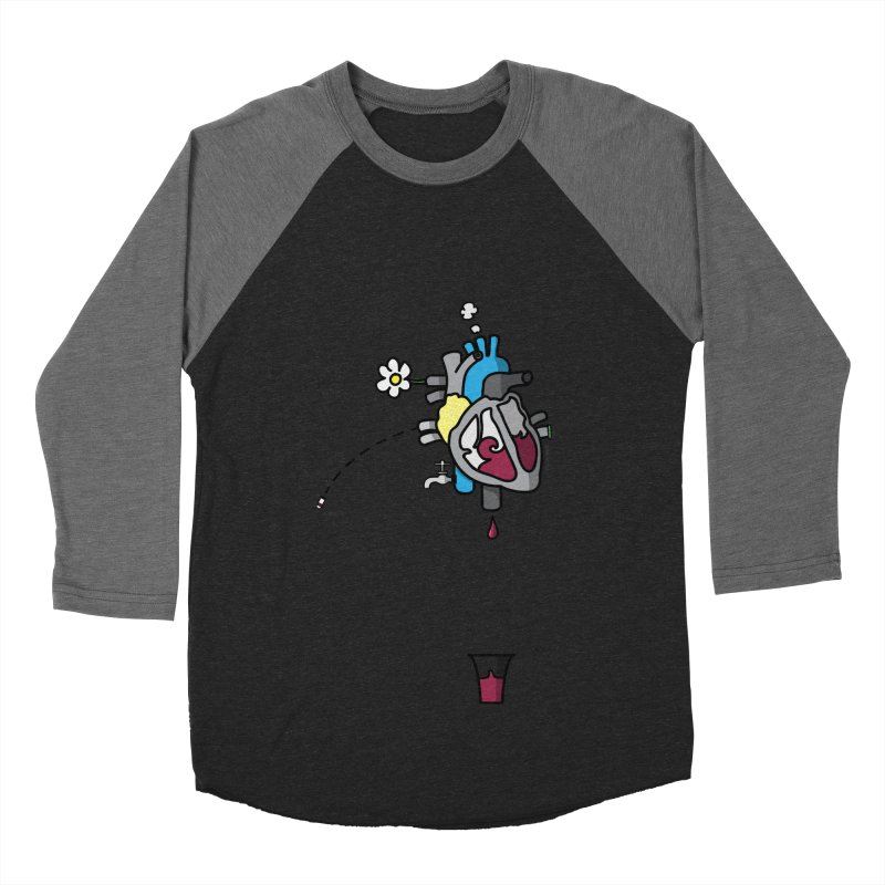 CuorVino Women's Baseball Triblend T-Shirt by ZEROSTILE'S ARTIST SHOP