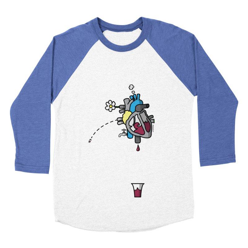 CuorVino Men's Baseball Triblend T-Shirt by ZEROSTILE'S ARTIST SHOP