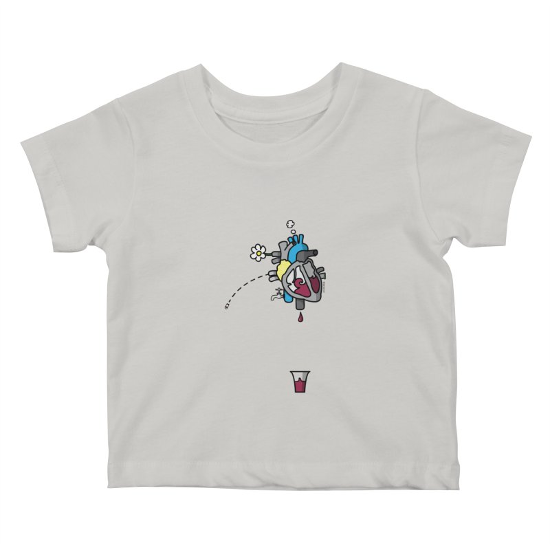CuorVino Kids Baby T-Shirt by ZEROSTILE'S ARTIST SHOP