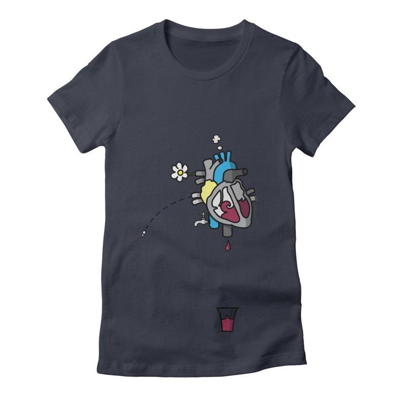CuorVino Women's Fitted T-Shirt by ZEROSTILE'S ARTIST SHOP