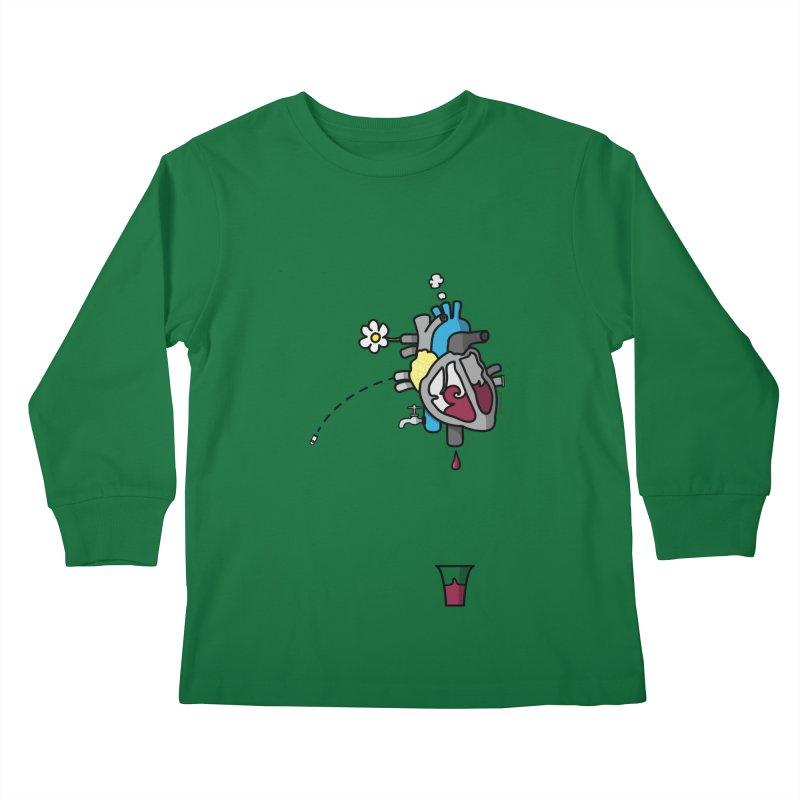 CuorVino Kids Longsleeve T-Shirt by ZEROSTILE'S ARTIST SHOP