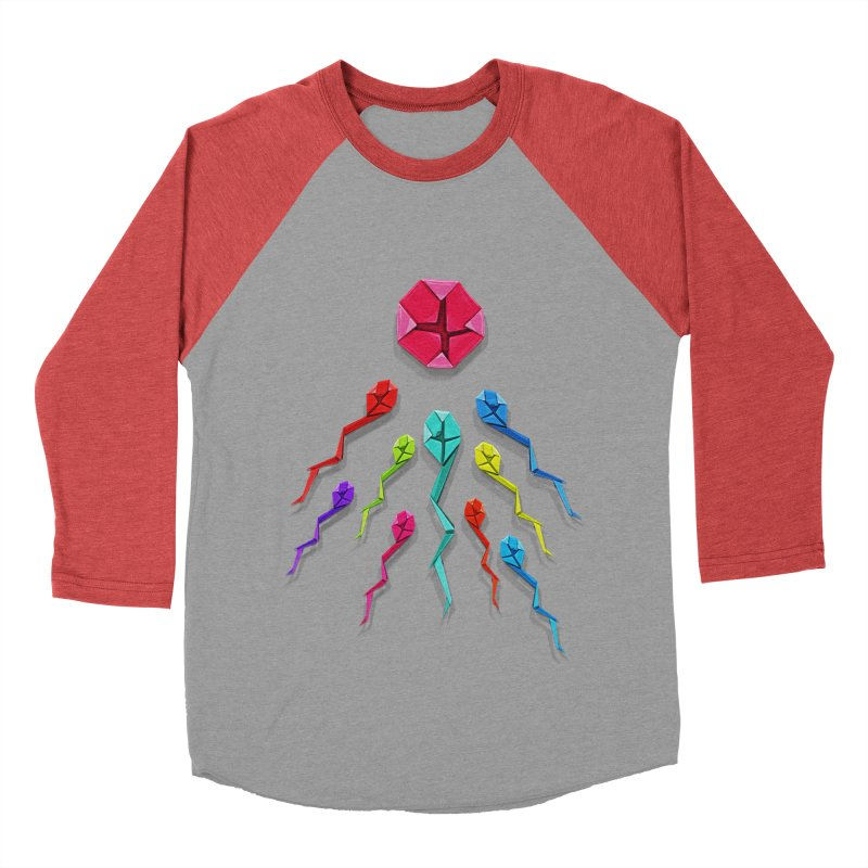 Origasmi Women's Baseball Triblend T-Shirt by ZEROSTILE'S ARTIST SHOP