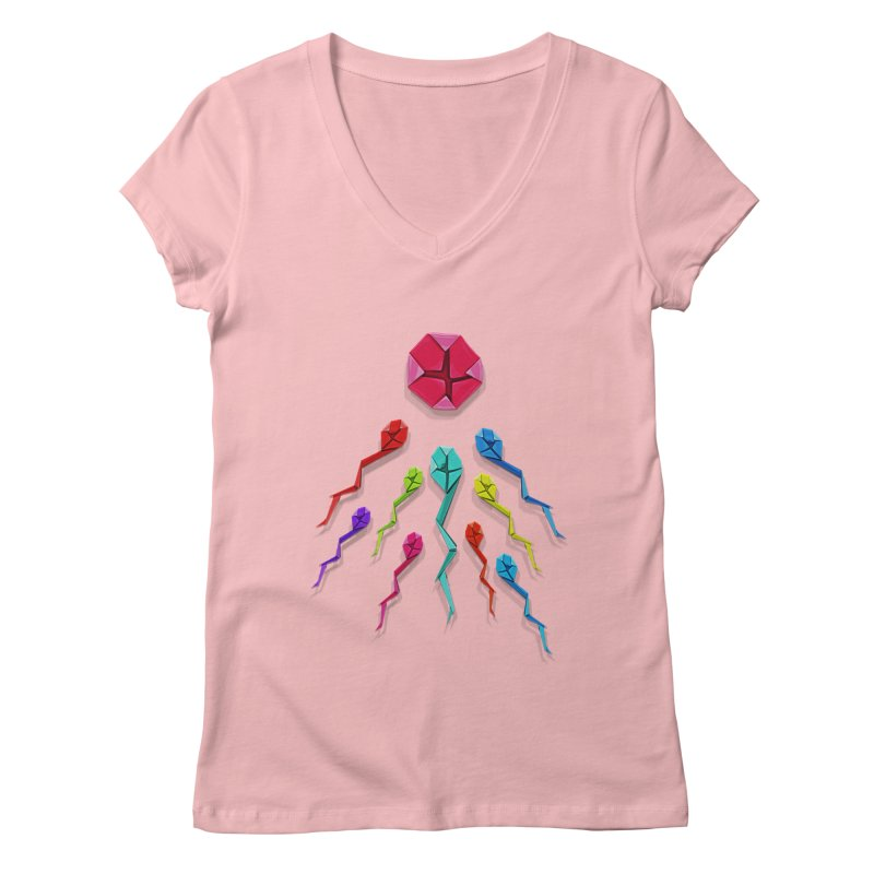 Origasmi Women's Regular V-Neck by ZEROSTILE'S ARTIST SHOP