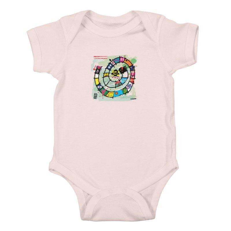 Goose game Kids Baby Bodysuit by ZEROSTILE'S ARTIST SHOP