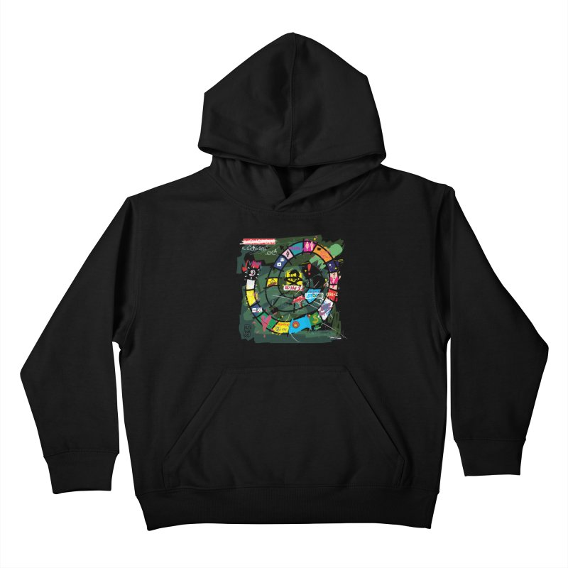 Goose game Kids Pullover Hoody by ZEROSTILE'S ARTIST SHOP