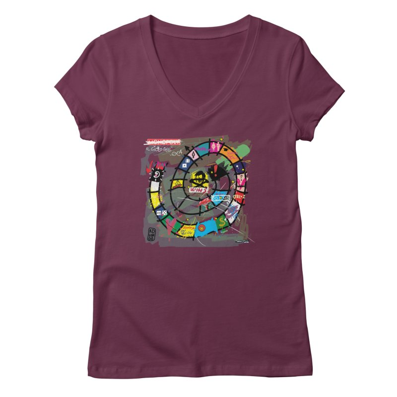 Goose game Women's Regular V-Neck by ZEROSTILE'S ARTIST SHOP