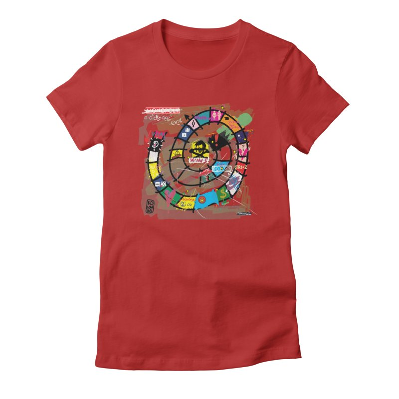Goose game Women's Fitted T-Shirt by ZEROSTILE'S ARTIST SHOP