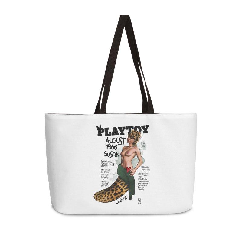 SUSAN 1966 - PLAYTOY Accessories Weekender Bag Bag by ZEROSTILE'S ARTIST SHOP