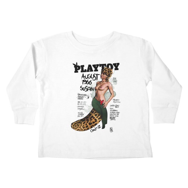 SUSAN 1966 - PLAYTOY Kids Toddler Longsleeve T-Shirt by ZEROSTILE'S ARTIST SHOP